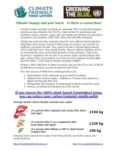 Climate change and your lunch