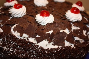 Climate friendly black forest cake. Source: http://vegancucc.wordpress.com/2012/11/15/black-forest-cake/